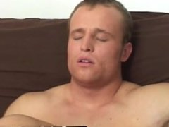 Gay guys Chad came right on his lower stomach a thick, white stream that