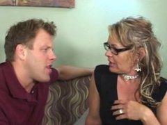 Horny Stepmom Takes Advantage Of Her Stepson