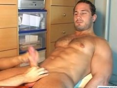 straight hunk gets massage and gets wank by a guy in spite of him !