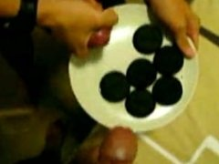 Asian Boys Cum on and Eat Cookies.
