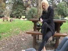 french public feet nylon lick