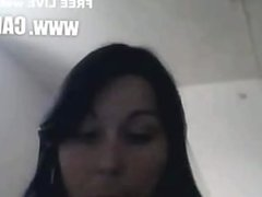 marlene mostra o cu em fio dental preto.Webcams