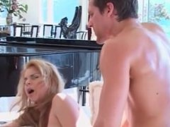 Blonde beauty takes cock in her ass