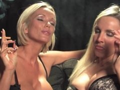 Dannii Harwood and Lucy Zara smoking fetish