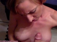 Handjob and Cock Worship Until Big Tit Cumshot in POV