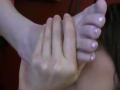 two mistress feet lick