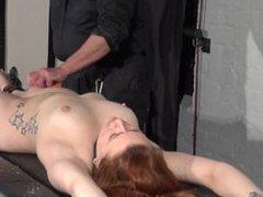 Bondage rack punishments and needle tit torture of crying slavegirl Isabel