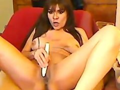 Big titted milf dildoing