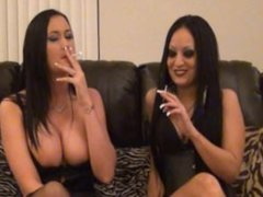 Sexy Women smoking Capri 120's and making out while talking about sex.