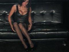 Charley Atwell stockings3web