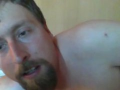 Guy jerks off and licks cum