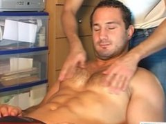 Cock massage to real str8 guy !