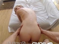 POVD Big cock leaves cum on blonde's face in POV