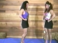fbb thea test of strenght ,armwrestling with another strong big girl