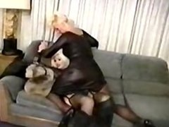 Bunny Glamazon wrestling another tall women