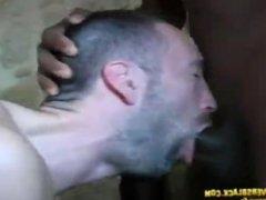 White guy gangbang by 4 black tops
