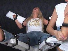 Lenka's Ticklish Feet - FF/F, Blondes & Feet Tickling!