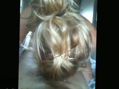 Blonde Cutie Sucks And Swallows