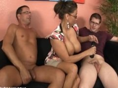 Double Fisted Step Mom over 40 handjobs