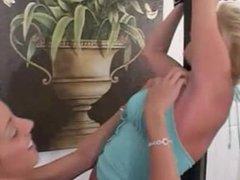 TC - Delilah tickles Britney Bailey