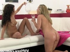 Naughty girlfriends use pee to put out fire