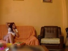 Spanish girl fucking with a hidden cam
