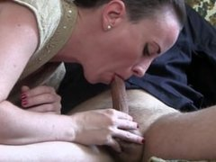 Post Cum Torture after the Best Blowjob Ever I Have a Wife.Sylvia Chrystall