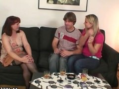Wife watches him fucking her old mom