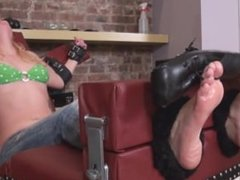 Stephie Stocked and Tickled - Tickling Feet