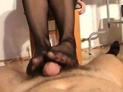 teacher stocking footjob