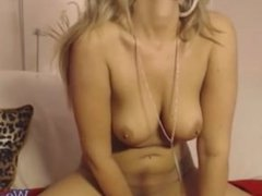 Blonde milf webcam private show with toys