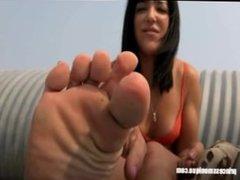 Princess monique- beach foot joi