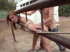 Outdoor Ranch Bondage Fuck