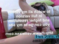 veneisse monster dildoes and gape for skinny girl ! Gaping -  camz.biz'
