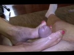 Bare toes on cock 15