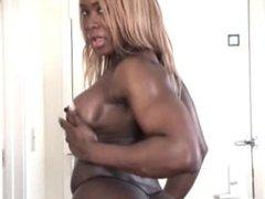 Worlds best muscular ebony booty