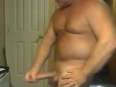 Beefy Big Cock Daddy Busts a Hot Nut!