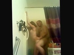 Teen Has A Quickie In The Shower