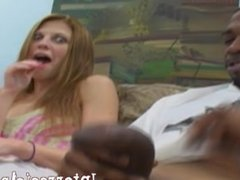 Cute Amateur Ann reluctantly takes 2 monster cocks!