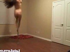 Breaking in my new longer stripper pole :) *Softcore - www.camz.biz
