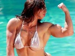 Amazing horny Brandi fbb at the pool
