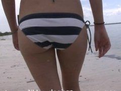 beach bunny gets naked