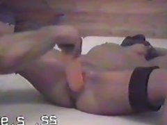 Girlfriend Tied and Fucked with Huge Dildo