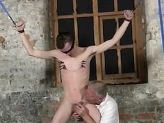 Amazing gay scene Sean McKenzie is roped up and at the grace of master