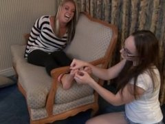 Cute Girls Feet Tickle