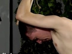 Hot gay Aiden has a geyser in his testicles and a youngster trussed up