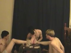 Naked guys Trace and William get together with their new friend Austin