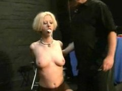 Cherry Torns blonde bdsm and extreme insertions of dominated sexslave