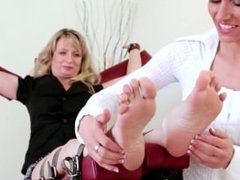 Foot Tickled Mature Lida - F/F, Gabi Proves No Victim Is Too Old To Tickle!