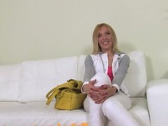 FakeAgent Horny blonde sucks and fucks in Casting interview